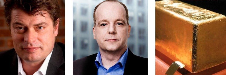 Markus Bachmann von Craton Capital, Andreas Görler von Wellinvest Pruschke Kalm (v. li.)
