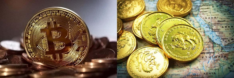 Die digitale Währung Bitcoin (l.) ist vor nicht ganz zehn Jahren entstanden. Die Bitcoins selbst werden in aufwändigen Rechenprozessen erzeugt. Auf Online-Plattformen können sie gegen klassische Währungen getauscht werden. Über die sogenannte Blockchain-Technologie, eine verschlüsselte Datenbank, werden sämtliche Transaktionen gespeichert.|© pixabay.com; freeimages9.com