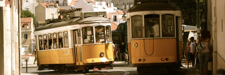 Straßenbahnen in der portugiesischen Hauptstadt Lissabon|© unsplash.com