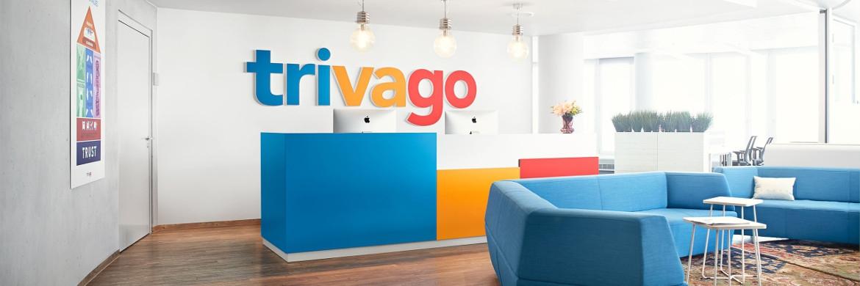 Rezeption von trivago. Der Düsseldorfer Betreiber einer Hotel-Suchplattform ging Ende vorigen Jahres in New York an die Börse.|© trivago