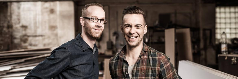 Tom Wonneberger (li.) und Stephan Busch, die Gründer von Progress Finanzplaner