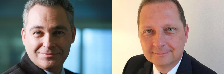 Ton Kentgens (links), Global Business Development bei Ortec Finance und Norman Falkenberg (rechts), Geschäftsführer von concedro