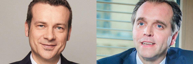 Carsten Roemheld (li), Kapitalmarktstratege bei Fidelity International, und Andrej Brodnik, Head of Continental Europe bei Jupiter AM