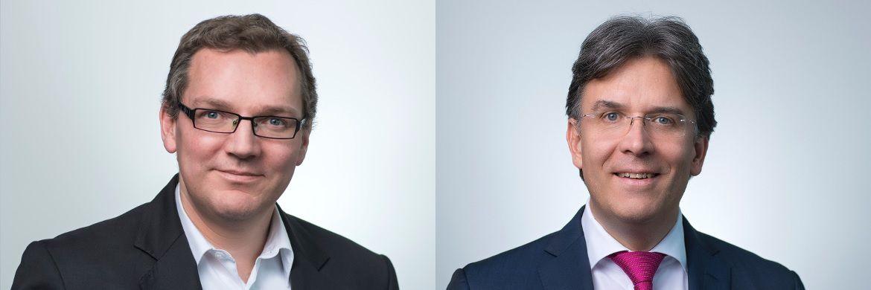 Ulf Becker (li.) managt den frisch aufgelegten Frankfurter Stiftungsfonds. Becker ist neben Frank Fischer (re.) Vize-Investmentschef bei Shareholder Value Management