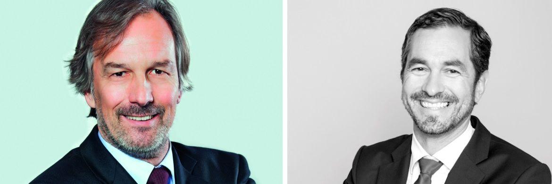 Fondskonzept-Vorstandschef Hans-Jürgen Bretzke (li.) mit dem neuen Vorstand Martin Eberhard|© Fondskonzept