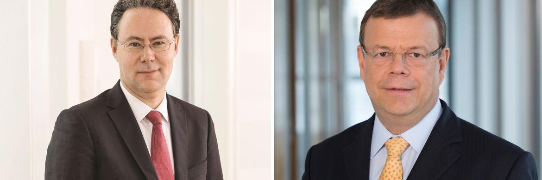 Frank Hagenstein (l.) und Klaus Martini: Sie lösen Rainer Neske und Hans-Jörg Vetter als Aufsichtsratsmitglieder ab.|© LBBW AM