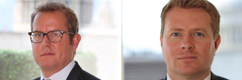"""James Luke (l.) und Matthew Michael (r.), Fondsmanager des Schroder ISF Global Gold: """"In Krisenzeiten verspricht Gold Stabilität."""""""