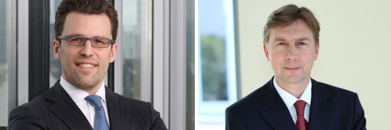 Christian Funke (li.), Vorstand von Source For Alpha und Dieter Helmle, Vorstand von Capitell Vermögens Management: In der Ära Merkel konnte der DAX bislang in jeder Amtsperiode eine positive Rendite erzielen.|© Pressefotos
