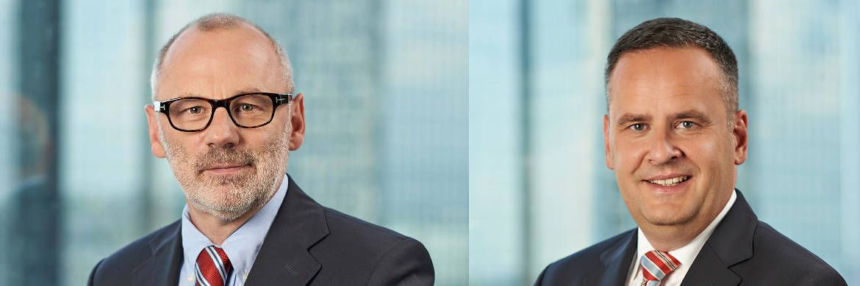 Befragen für Moventum vierteljährlich Experten: Michael Jensen (links), Chef der Vermögensverwaltung, und Asset-Management-Direktor Carsten Gerlinger|© Team Uwe Nölke