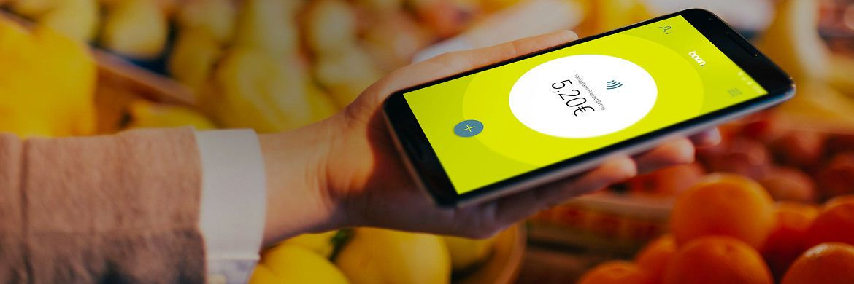 """Produktfoto von """"boon. by Wirecard"""": Die mobile Geldbörse für Smartphones ermöglicht das Bezahlen ohne Bargeld, Karten und Internetverbindung."""