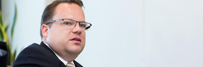 Martin Stenger ist seit Herbst 2014 bei Fidelity unter anderem für den Vertrieb an Versicherungen zuständig. Zuvor war er fünf Jahre für den Versicherungskonzern HDI tätig|© Lutz Sternstein