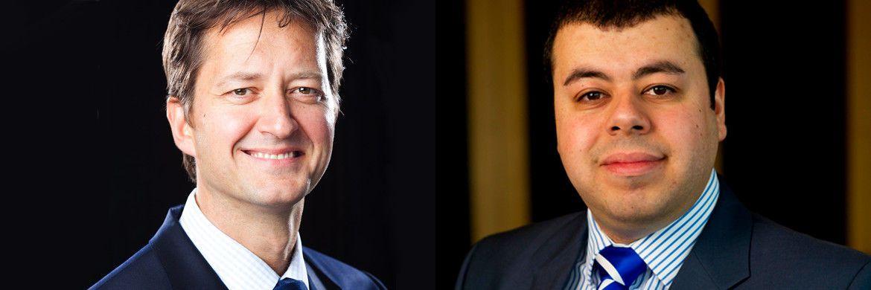 Schroders-Experten Rory Bateman, Leiter für britische und europäische Aktien, und Europa-Volkswirt Azad Zangana