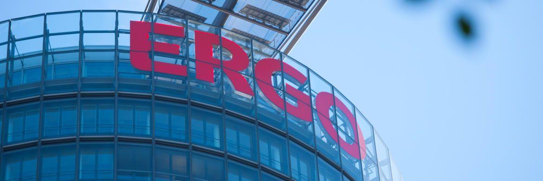 Der Büroturm der Ergo-Zentrale in Düsseldorf: Der Konzern plant offenbar den Verkauf der Leben-Töchter Victoria und Ergo Leben. |© Ergo