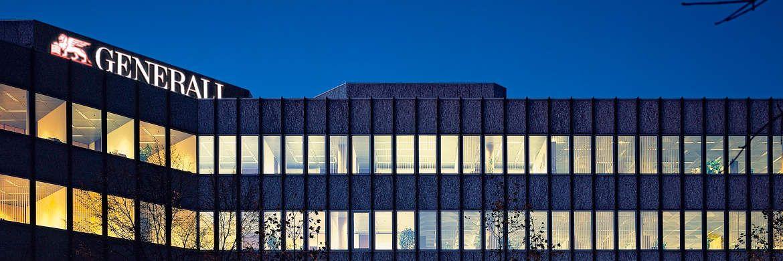 Die Außenansicht des Standorts der Generali Deutschland in München: Das Unternehmen befindet sich im Umbau. |© Generali