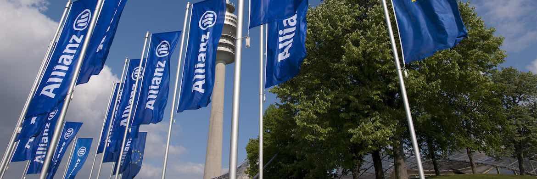 Fahnen der Allianz: Das Unternehmen plant keinen Einstieg in den Run-off-Trend. |© Allianz