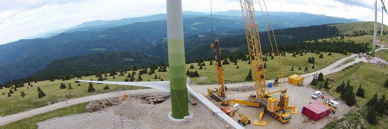 Windpark Pretul in der Steiermark: 14 Windräder in 1.600 Metern Höhe erzeugen Strom für 22.000 Haushalte. Das Startgeld kommt zu drei Vierteln aus einem Green Bond.|© Grant Thomson