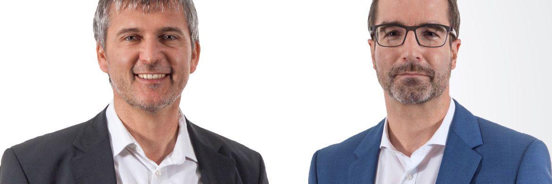 Jochen Knoesel (l.) und Ulrich Ronge sind die Gründer und geschäftsführenden Gesellschafter der Würzburger Vermögensverwaltung Knoesel & Ronge.|© Knoesel & Ronge