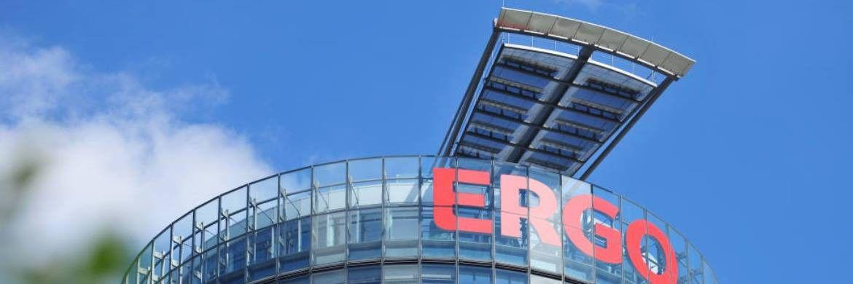 Zentrale der Ergo Versicherungsgruppe in Düsseldorf: Der Konzern will prüfen, ob sich ein Verkauf der Bestände der Töchter Victoria und Ergo Leben lohnt. |© Ergo