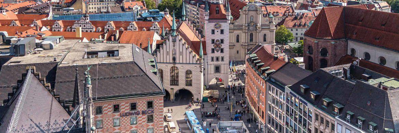 Marienplatz in München: Die Landeshauptstadt Bayerns steht an der Spitzen bei den Kauf- und Verkaufspreisen auf dem Wohnimmobilienmarkt.|© Pixabay