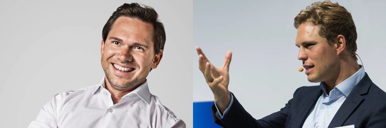 Treiben die Online-Beratung voran: Investify-Mitgründer und -Geschäftsführer Sebastian Hasenak (links) und Scalable-Capital-Mitgründer und -Geschäftsführer Erik Podzuweit.|© Investify/Andreas Mann