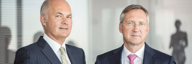 Die Gründer sind gleichzeitig Namensgeber des Kölner Vermögensverwalters: Bert FLossbach (re.) und Kurt von Storch.|© Thomas Schorn
