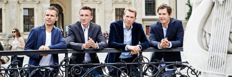 Cashboard-Gründer André Holdschik, Stephan Henker, Robert Henker und Marius Schulze (v.l.)