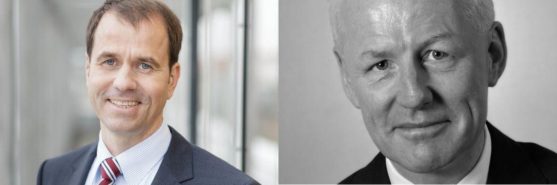 Verbandsdirektor der Landesbausparkassen Axel Guthmann (li.) und F.A.Z.-Kolumnist Volker Looman: Sind Bausparverträge