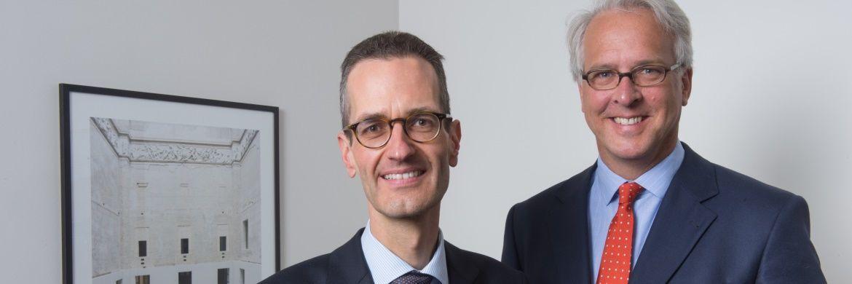 Ernst Konrad (l.) und Georg Graf von Wallwitz (r.), Fondsmanager der Phaidros Funds und Geschäftsführer der Eyb & Wallwitz Vermögensmanagement GmbH