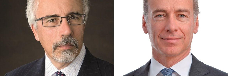 Bruno Bertocci (l.), Leiter der Abteilung Sustainable Equity Investors bei UBS AM und Michael Baldinger (r.), Leiter der Abteilung Sustainable and Impact Investing bei UBS AM