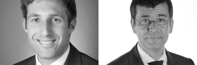 Jonathan Steel (links) und Sylvain Hasse: Sie leiten den neu gegründeten Geschäftsbereich BNP Paribas Real Estate Occupier Solutions.|© BNPPRE