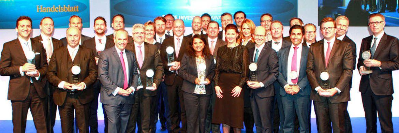 Gewinner der Scope Investment Awards 2018: Die Preisverleihung fand im Berliner Humboldt Carré statt.|© Scope SE & Co. KGaA