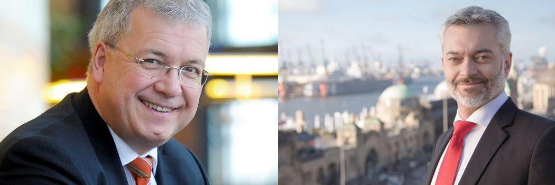 Europa-Abgeordneter Markus Ferber und Fachanwalt Björn Thorben Jöhnke: Der verschobene IDD-Start kommt dem europäischen Versicherungsvertrieb entgegen.|© Europäisches Parlament/Jöhnke&Reichow