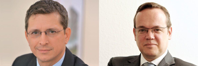 AfW-Vorstände Norman Wirth (li.) und Frank Rottenbacher. Der AfW hat sich in einer Stellungnahme zum Entwurf einer erneuerten VersVermV geäußert.  |© Wirth Rechtsanwälte/AfW