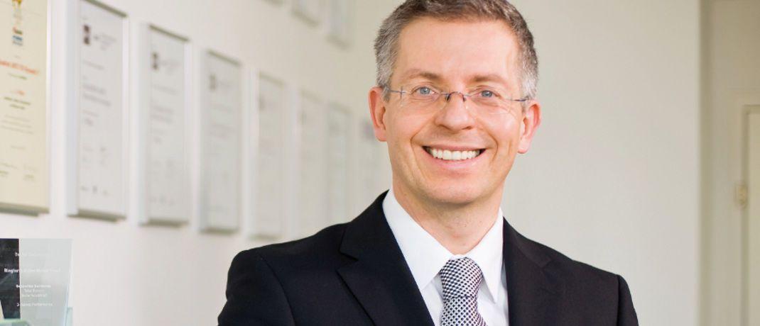 Voll und ganz auf neue Höchststände an den Aktienmärkten eingestellt: Arts-Geschäftsführer Leo Willert