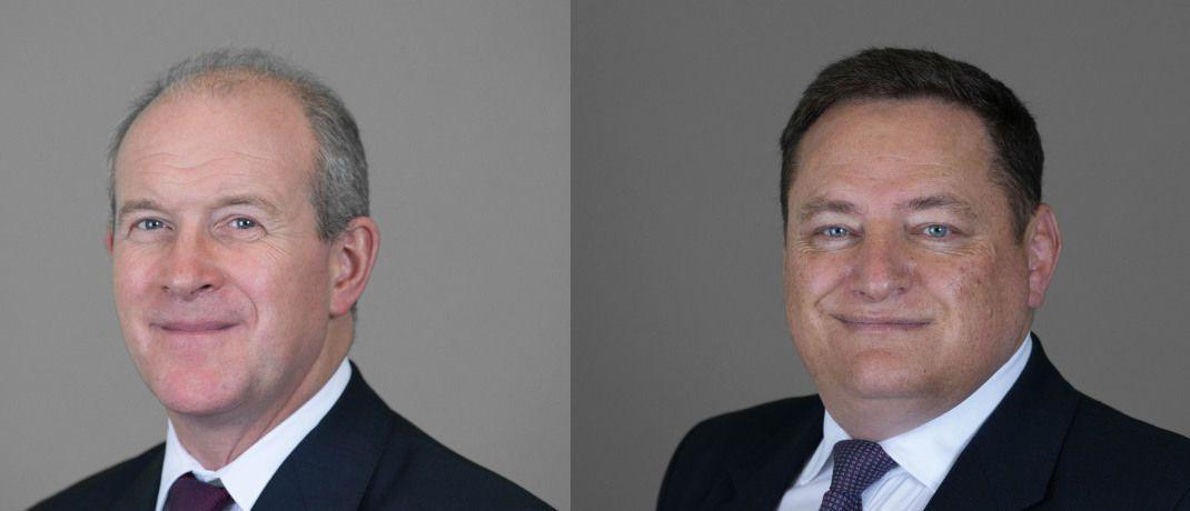 Colin Wilson (links) und John Forrester: Zwei der drei Beförderten im EMEA-Führungsteam.|© Cushman & Wakefield