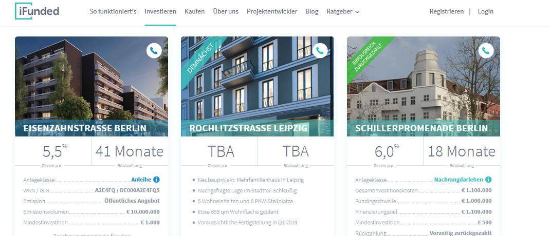 Die Startseite von iFunded.de: Bei der Wahl der Investmentplattform ist Transparenz (87 Prozent) das wichtigste Kriterium für die Befragten.|© iFunded.de