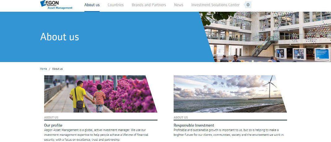 Internetseite von Aegon AM: Der niederländische Asset Manager hat einen neuen Vertriebs-Spezialisten verpflichtet.|© Aegon AM