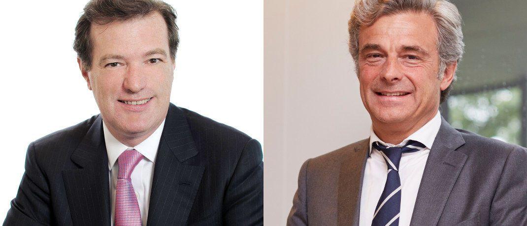Laurent Mignon und Philippe Oddo (r.): Die Vorstandschefs von Natixis und Oddo BHF planen eine langfristige Partnerschaft.