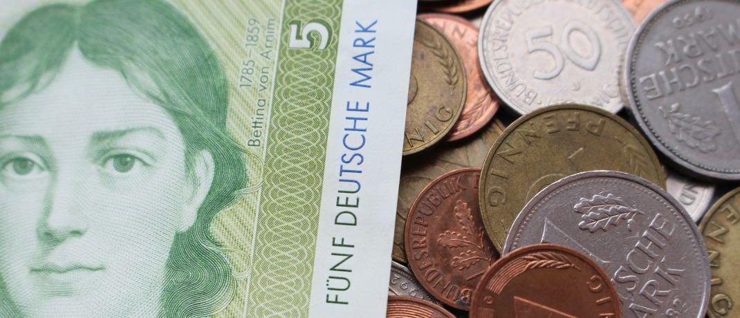 Bargeldreserve in D-Mark: Scheine und Münzen im Milliardenwert wurden nicht in Euro umgetauscht.|© Bundesverband deutscher Banken