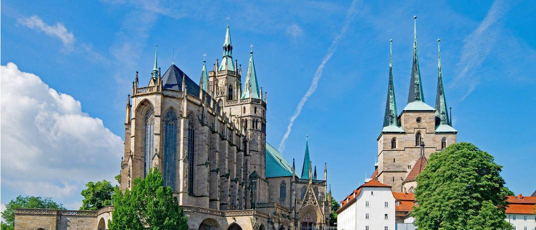 Der Dom in Erfurt: Die Landeshaupstadt Thüringens verbuchte 2017 einen der größten Umsatzsprünge auf dem Wohnimmobilienmarkt.|© Pixabay