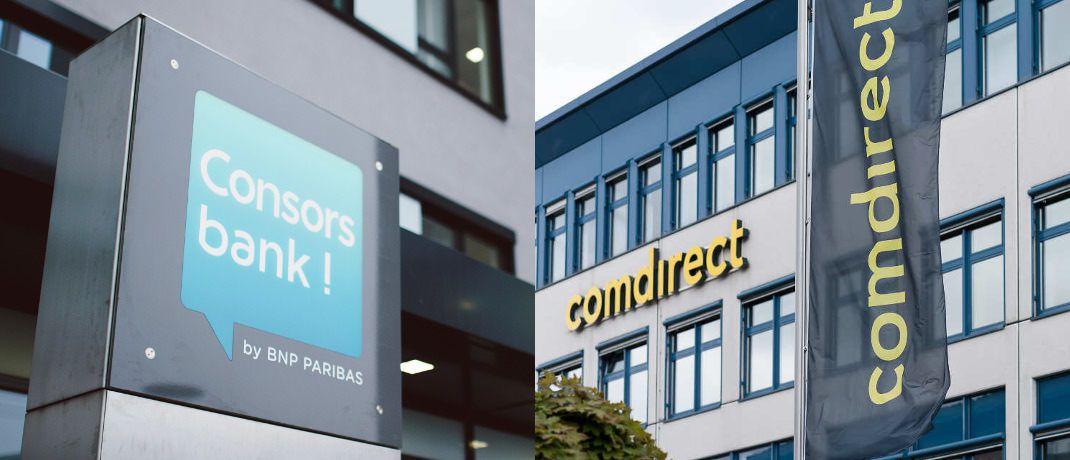 Die Consorsbank-Zentrale in Nürnberg und die Zentrale der Comdirect Bank in Quickborn: Die Online-Broker ändern zum Jahreswechsel ihre ETF-Aktionen.|© BNP Paribas S.A. Niederlassung Deutschland, comdirect bank Aktiengesellschaft