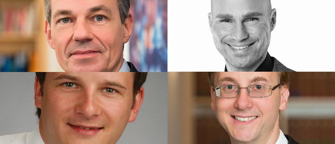 Jürgen Evers, Roger Rankel, Alexander Stallbaum, Sven Hennig (v. li. oben im Uhrzeiger)