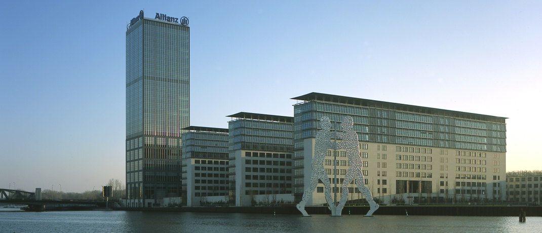 Blick auf den Allianz-Standort Berlin: Das Unternehmen gehört neben Volkswagen (Platz 94) zu den Neueinsteigern im Ranking der 100 wertvollsten börsennotierten Unternehmen der Welt. Der Münchener Versicherungskonzern darf sich sogar drei Plätze vor den Autobauern aus Wolfsburg einreihen.|© Allianz