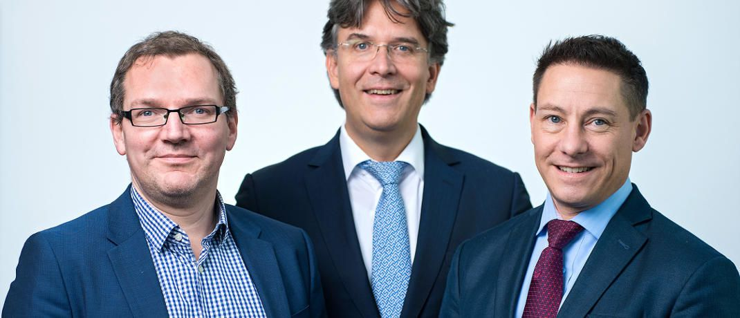 Shareholder Value Management bekommt mit Frank Fischer (Mitte) einen neuen Vorstandsvorsitzenden. Ulf Becker (li.) und Philipp Prömm rücken in den Vorstand auf. © Shareholder Value Management