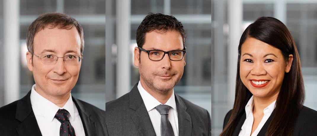 Neue Kollegen bei Hansainvest (von links): Andreas Hausladen, Stefan Klein, Wantanie Rose.|© Hansainvest