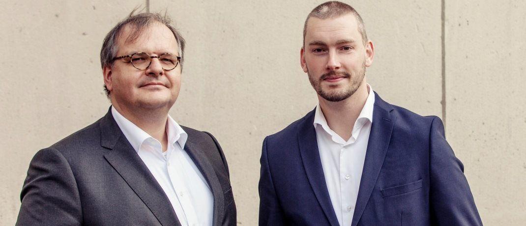 """Patrick Lemmens und Jeroen van Oerle, Co-Fondsmanager des neuen Robeco-Fonds: """"Wir erwarten für die nächsten Jahre zahlreiche Fintech-Börsengänge, insbesondere im Softwarebereich und in Asien""""."""