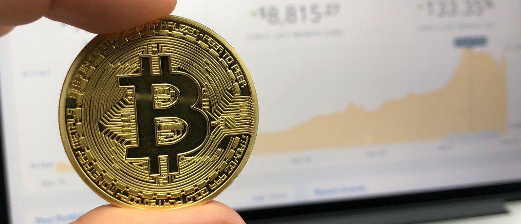 Bitcoin-Münze: Der Wert der digitalen Währung ist in den vergangenen Tagen dramatisch gesunken.|© David McBee