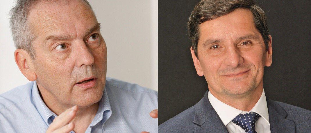 Investmentchef von DNCA Jean Charles Meriaux (li.) und Rentenfondsmanager Pascal Gilbert erhoffen sich 2018 vor allem in Europa gute Investmentgelegenheiten. © DNCA