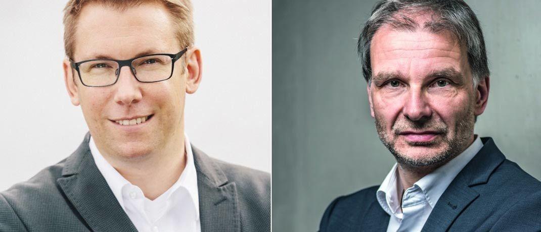 Gemeinsames Wett-Ziel, aber völlig unterschiedliche Strategie: Henning Schmidt vom Oldenburger Beratungshaus Schnitger (links) und Egon Wachtendorf, Kolumnist von DAS INVESTMENT.|© Johannes Arlt