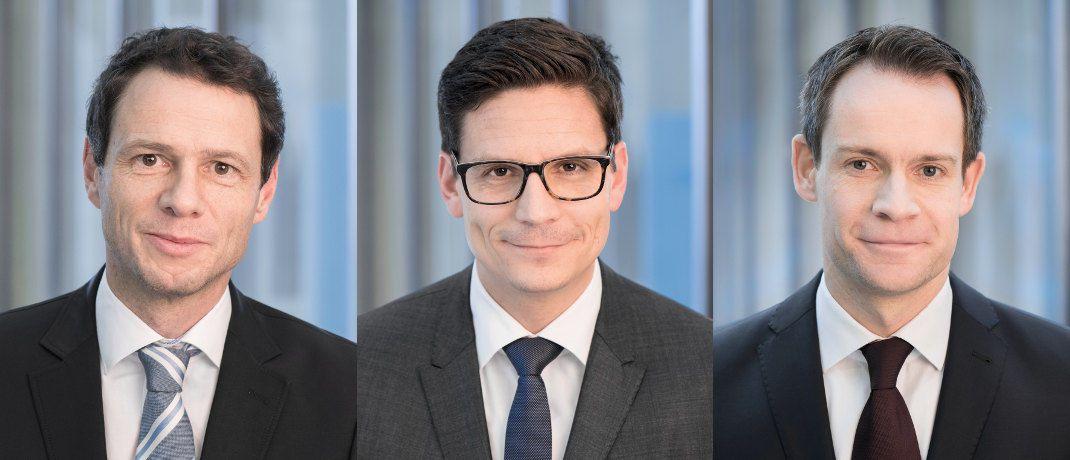 Volker Schmidt, Michael Blümke und Harald Berres (v.l.): Die drei Portfoliomanager sind ab sofort für die Ethna-Mischfonds mitverantwortlich.|© Ethenea Independent Investors